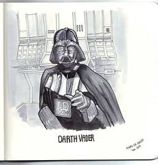 StarWars Darth Vader - ink and promarkers (markdegroot79) Tags: art markdegroot drawing sketch markers promarkers darthvader ink starwars
