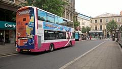 Orangina mega rear. (Phill_129) Tags: metro translink belfast buses bus volvo b9tl wrightbus gemini orangina 2363 kfz 9363 northern ireland