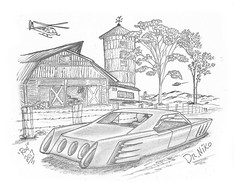 Dr Niko (rod1691) Tags: bw scifi grey concept custom car retro space hotrod drawing pencil h2 hb original story fantasy funny tale automotive art illistration greyscale moonpies