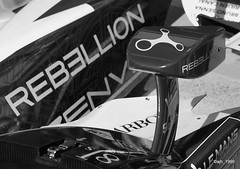 P1018204 (ajh_1990) Tags: le mans 24h 2017 race racing pits pitwalk 24 rebellion 13 31 monochrome black white bodywork mirror wing watch watches bw circuit de la sarthe car