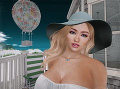 Turquoise eyes under a turquoise sky (Lucie Bluebird-Lexington) Tags: uber truth theskinnery cosmopolitan neve cae tarte barnesworthanubis whatnext arte bossie cosmeticsfair