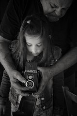 Learning about.... (Nikos Kopanidis) Tags: nikon d7000 d7k bw greece 18105 lubitel portrait blackandwhite teaching photography macedoniagreece makedonia timeless macedonian macédoine mazedonien μακεδονια