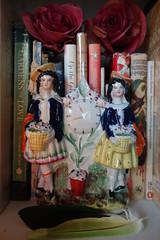 Two Flower Sellers 1850-1860 (Celeste33) Tags: staffordshirefigure twoflowersellers flowers gardening books pottery ceramic stafforshire 1850 1860
