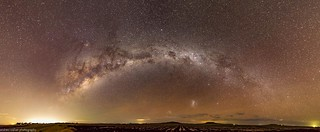 milky way and red airglow
