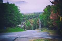Adirondack Foggy Morning (Sublime-Focus) Tags: adirondack mountain landscape fog foggy morning upstate new york whiteface scenary road
