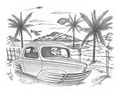Chino (rod1691) Tags: bw scifi grey concept custom car retro space hotrod drawing pencil h2 hb original story fantasy funny tale automotive art illistration greyscale moonpies
