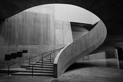 Open Switch (Douguerreotype) Tags: uk gb britain british england london city urban architecture buildings stairs steps staircase helix spiral concrete modern brutalist bw blackandwhite mono monochrome geometry geometric