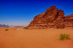 Wadi Rum desert (maios) Tags: wadirumdesert wadirum desert jordan reddesert red sand maios blue green plant ramm alaqaba