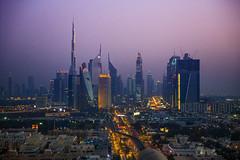 DIFC - Dubai (HarveyDxb) Tags: dubai emirates uae epic scenic night colorful downtown difc skyline burj khalifa world trade center jumeirah towers city town skyscrapers sunset