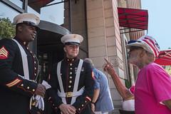 Philadelphia - 5th St. near Chestnut Street, 2017 (Alan Barr) Tags: marines philadelphia 2017 5thstreet chestnutstreet independencemall independenceday parade street sp streetphotography streetphoto color city urban candid people panasonic lumix gx8