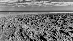 Life on Mars (andbog) Tags: beach playa sea pov spiaggia mare sand sabbia sony alpha ilce a6000 sonya6000 emount mirrorless csc sonya oss sel 1650mm selp1650 sonyα sonyalpha sony⍺6000 sonyilce6000 sonyalpha6000 ⍺6000 ilce6000 seascape shoreline paesaggio landscape mediterranean mediterraneo apsc clouds france francia fr languedocroussillon occitanie occitania midipyrénées nature natura gruissan aude plage méditerranée widescreen 169 16x9 monochrome biancoenero bw bn googlenikcollection silverefexpro2