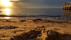 Golden morning sunrise (saromon1989) Tags: greece beach sunrise sun panorama landscape original natural