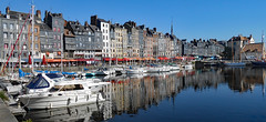 Carte postale-Honfleur 110X220 (o.penet) Tags: colours red blue blancs white honfleur normandy postcards reflets reflects architecture