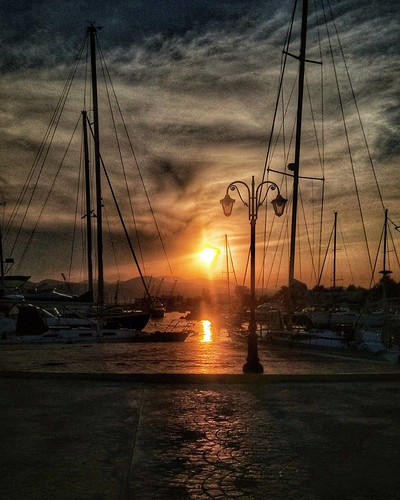 Sunset at the docks once again...!