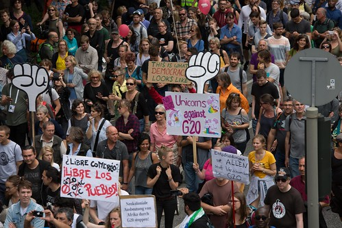 Solidarity without borders instead G20 –Demonstration Hamburg 2017