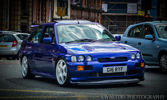 Ford Escort Cosworth (sidrog28) Tags: ford escorrt cosworth newcastle roundabout blue alloys nikon north northeast northumberland