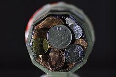 Jar bottom - Macro Monday (katy1279) Tags: bottomsup macromondays coins jamjar tamron90mm