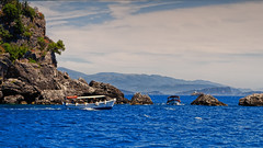 Ship Traffic (Alfred Grupstra) Tags: sea nature blue summer nauticalvessel island water mountain landscape coastline scenics vacations travel outdoors rockobject beach mediterraneansea sky tourism seascape