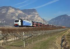 EU43 008, Mezzocorona,  20 Feb 2017 (Mr Joseph Bloggs) Tags: rtc rail traction company railway railroad brenner brennero lokomotion mezzocorona eu43 e412 eu43008 008 verona train treno merci cargo freight vlak