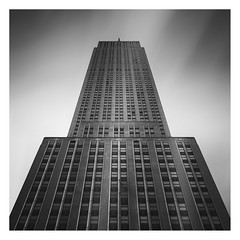 ESB (Vesa Pihanurmi) Tags: empirestatebuilding skyscraper architecture tower exterior windows blackandwhite facade sky nyc newyork esb longexposure manhattan