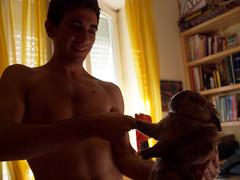 Piacere (Simone Onorati) Tags: zampa stretta handshake coniglio rabbit amici friends paw