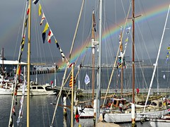 IMG_0780  Where's That Pot Of Gold ??? (Boat bloke) Tags: rainbow hobart tasmania australia wooden boat festival classic yacht coast water waterfront derwent river huon pine canon sx50hs sailing sails sea sky ships boats ship