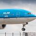 KLM 777-200ER on short final for runway 27