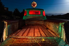 Filler up at the Texaco. 2017 (Aztravelgrl (Forgotten Places Photography)) Tags: nelsonghosttown nevada usa abandoned ghosttown lightpainting longexposure lowlight nightphotography chevrolet truck