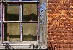 Rusty Building 5599 D (jim.choate59) Tags: rust decay window jchoate troutlakewashington brick ruraldecay wall interestingwall peelingpaint rx100 on1pics