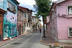 Kadirga, Istanbul (yonca60) Tags: kadirga istanbul turkey street colorfulhouses houses beautifulstreets colorfulstreets iphone7 oldhouses woodenhouses