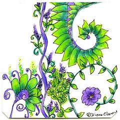 (My Diane & Carolien's N-O-P Challenge Entry) has been published on Diane Clancy Art Blog (Diane Clancy) Tags: dianeampcaroliensweeklyzentanglechallenge nop nopchallenge norwichpaisley ocotilla oolong paisleyfelbrigg peacock tanglechallenge