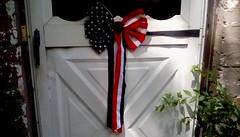 Door Decoration! (Maenette1) Tags: door decoration patriotic fourthofjuly bow menominee uppermichigan flickr365