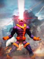 Optic Blast! (kevchan1103) Tags: hasbro marvel legends jim lee cyclops the xmen scott summers custom professor x charles xavier wolverine logan toys action figure