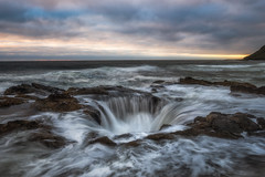 Thor's Well | Yachats, Oregon (Greg Mombert) Tags: thors well oregon coast yachats cape perpetua sony a99 landscape sea ocean long exposure water flow pacific sinkhole tide sunset clouds beach