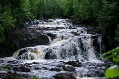 Copper Falls (Jenna.Lynn.Photography) Tags: copper falls water waterfalls waterfall rapids green forest trees rocks rock rushing gushing canon canon70200f28lll canon5dmarkiii wisconsin