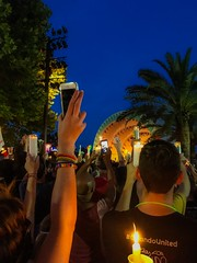 Pulse Nightclub Candlelight Vigil, Lake Eola, Orlando, FL