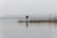 Less (thewhitewolf72) Tags: berlin see fahrwasser schiff schifffahrtszeichen müggelsee friedrichshagen boot schilf berge wasser