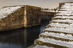 Stairs at Nymphenburg (Martin Sykora) Tags: winter water old architecture snow wall stone stairs long exposure palace germany munich nymphenburg
