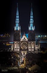 Cathédrale Notre-Dame-de-l'Assomption (CyrilRly) Tags: cathédrale notredamedelassomption clermont ferrand auvergne puy de dome france french canon eos 80d 55250 architecture nuit night light lumiére
