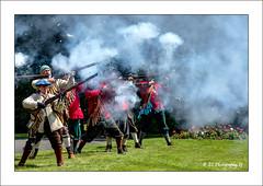 Smoke Screen (Fermat48) Tags: englishcivilwar sealedknot society foxdentonpark chadderton parliamentarians roundheads royalists cavaliers 16421651 smokescreen canon eos 7dmarkii
