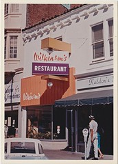 Wilkinson's Restaurant Sign - As Built - Circa 1963 (hmdavid) Tags: vintage sign signage 1960s federal federalsign california roadside advertising design wilkinsons restaurant berkeley modern architecture