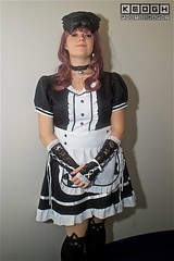 IMG_6945 (Neil Keogh Photography) Tags: apron black blouse cosplay cosplayer dokidokifestivalmanchester2016 dress female frenchmaid gloves highheels japanesemaid maidcafe mask skirt stocking sweetlolita tights white