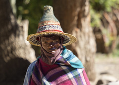 Traditional Lesotho man (Hans van der Boom) Tags: holiday vacation southafrica lesotho zuidafrika semonkong maseru traditional dress blanket man people hat lso