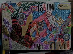 """""""My boy was just like me."""" (Oh.Great!) Tags: 3652017 365the2017edition day194365 13jul17 zentangle rhinestones artpaper letters woodenlabels colours"""