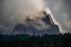 Cloudy Mountain (bjorbrei) Tags: sassolungo mountain clouds selva valgardena selvadivalgardena dolomites southtyrol italy