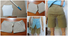5. Making Shorts for Barbie (Foxy Belle) Tags: doll barbie made move handmade sew diy make clothing fashion shorts halter top summer asha