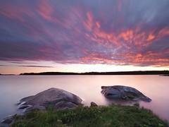 Sunset cloudscape - Explored on July 14th, 2017 (Jarno Nurminen) Tags: finland balticsea archipelago porvoo nd64 nd reversegrad gndr omd olympusinspired olympus nisi filter longexposure sunset seascape clouds