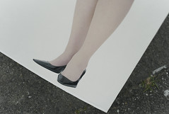 Part of the poster (mokuu) Tags: poster ポスター shoes 靴 leg 足