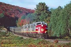 (SEE & HEAR)-AC 1755, mp22, Searchmont, ONT. 9-23-1997 (jackdk) Tags: train railroad railway locomotive emd emdf7a emdf7 emdfp7 emdfp9 fp9 fp7a fp9m fp9u fp7au algomacentral algoma algomacentralrailway algomacentralcorp agawacanyon tour tourtrain passengertrain passenger fall fallcolor canada seeandhear seehear