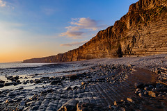 Nash Point (parry101) Tags: nature geraint parry geraintparry sigma sigma1750 1750mm nikond3200 d3200 nikon landscape seascape nash point monknash headland vale glamorgan south wales rocks sunset water evening cliff cliffs